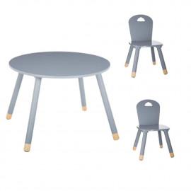 Table Douceur Gris + 2...