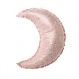 Coussin décoratif lune rose