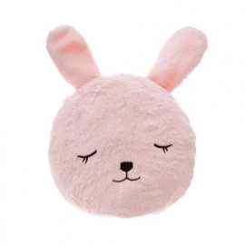 Coussin Rond Fourrure Lapin...