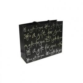 Sac cadeau en papier Noir