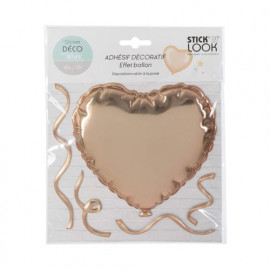 Sticker ballon coeur Doré