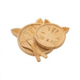 Set de repas en bambou Chat