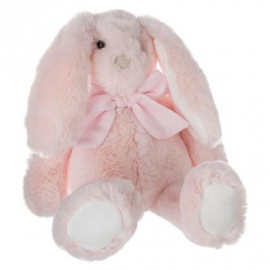 Peluche lapin noeud Rose