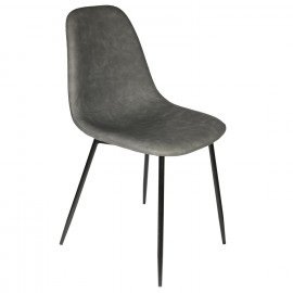 Chaise PU Amber Gris Home...
