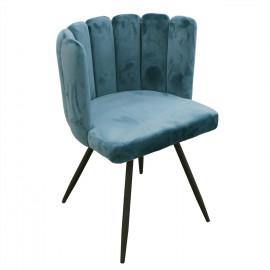 Chaise Ariel Velours Bleu...