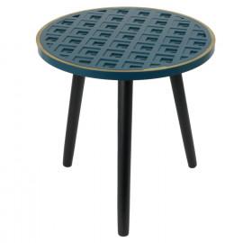 Table D'appoint Bleu Lisere...