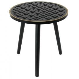 Table D'appoint Noir Lisere...