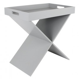 Table D'appoint Gris Home...