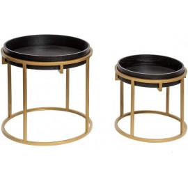 Lot De 2 Tables A Café Rond...