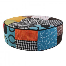 Pouf rond Patchwork Home...