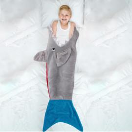 Plaid Enfant Requin Gris...