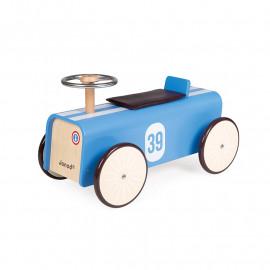 Porteur voiture Bleu Janod