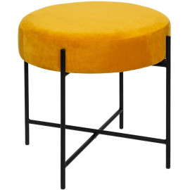 Tabouret Velours Arty Ocre...