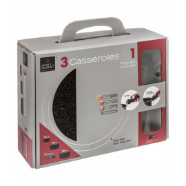 Lot de 3 casseroles Noires...