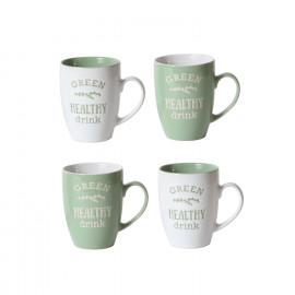 Lot De 4 Tasses À Café Vert...