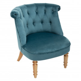 Fauteuil Velours Crapaud...