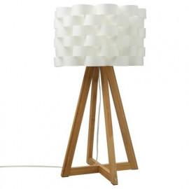 Lampe à poser en bambou et...