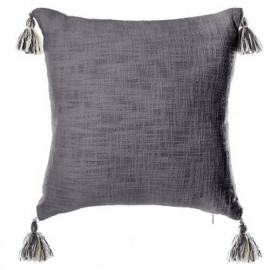 Coussin en coton gris - L...