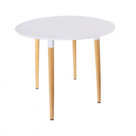 Table Scandinave Ronde Blanche