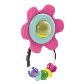 Hochet fleur multicolore...