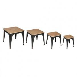 Set De 4 Tables D'appoint...